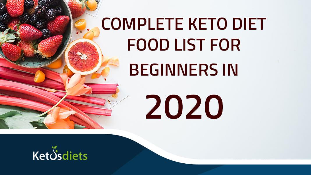 Complete Keto diet food list for beginners in 2021 -